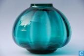 Glas / kristal - Kristalunie - Mira nr. 3 Vaas groen