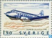 Timbres-poste - Suède [SWE] - Saab 90 Scandia - 1946