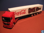 Voitures miniatures - Herpa - Mercedes-Benz Actros Coca-Cola