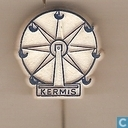 Kermis (grande roue) [bleu sur blanc]