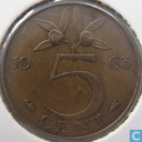 Coins - the Netherlands - Netherlands 5 cents 1963
