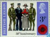 Postage Stamps - Great Britain [GBR] - Anniversary of the British Legion