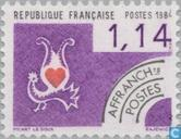 Postage Stamps - France [FRA] - Hearts