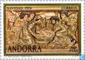 Timbres-poste - Andorra - Bureaux espagnols - Scènes bibliques