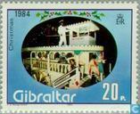 Timbres-poste - Gibraltar - Pronk voiture