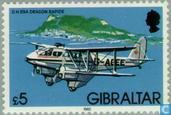 Timbres-poste - Gibraltar - Aéronefs