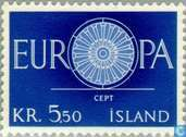 Postage Stamps - Iceland - Europe – Spoked Wheel