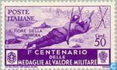 Postage Stamps - Italy [ITA] - 100 years Medal for bravery