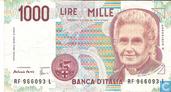Italie 1000 Lire