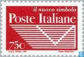 Timbres-poste - Italie [ITA] - Nouveau logo de la poste