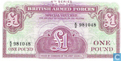 Banknoten  - British Armed Forces - BAF 1 Pfund