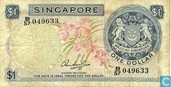 Billets de banque - Board of Commissioners of Currency - 1 Dollar de Singapour
