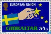 Postzegels - Gibraltar - Toetreding E.E.G.