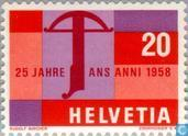 Postage Stamps - Switzerland [CHE] - Swiss mark 25 years