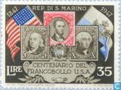 Briefmarken - San Marino - Stamp Jubilee USA