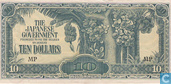 Billets de banque - The Japanese Government - Malaisie 10 Dollars