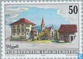 Postage Stamps - Liechtenstein - Village Faces