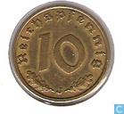 Monnaies - Allemagne - Empire allemand 10 reichspfennig 1938 (J)