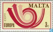 Postzegels - Malta - Europa – Posthoorn