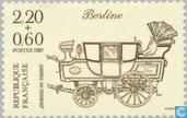Postage Stamps - France [FRA] - Mail coach 'Berline' around 1837