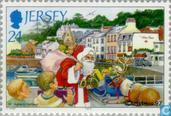 Timbres-poste - Jersey - Santa