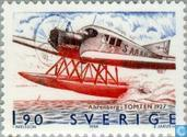 "Timbres-poste - Suède [SWE] - Junkers ""Tomten"" F13 1927"