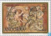 Postzegels - Andorra - Spaans - Bijbelse voorstellingen