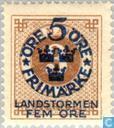 Postzegels - Zweden [SWE] - 5+FEM#3 bruin