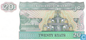 Banknoten  - Central Bank of Myanmar - Myanmar 20 Kyat