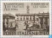 Timbres-poste - Italie [ITA] - Traité de Rome de 10 ans