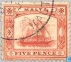 Briefmarken - Malta - Boat