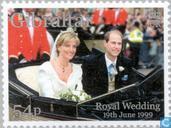 Postzegels - Gibraltar - Prins Edward en Sophie Rhys-Jones- Huwelijk
