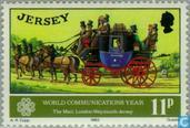 Briefmarken - Jersey - Internationales Jahr der Kommunikation
