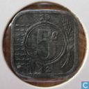 Coins - the Netherlands - Netherlands 5 cent 1942