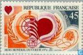 Postage Stamps - France [FRA] - World Heart Month