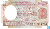 Billets de banque - Reserve Bank of India - Inde 2 Roupies