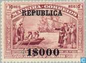 Vasco da Gama stamps Madeira cmd. REPUBLICA