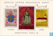 Timbres-poste - Liechtenstein - Le Pape Jean-Paul II visite