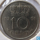 Pays-Bas 10 cents 1951