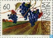 Postage Stamps - Liechtenstein - Vine during seasons