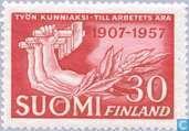 Timbres-poste - Finlande - 50 jaar vakbeweging
