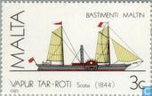 Postage Stamps - Malta - Ships