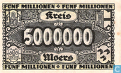 Banknotes - Moers - Kreis - Moers 5 million Mark