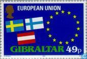 Timbres-poste - Gibraltar - adhésion à la CEE