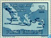 Postzegels - Vaticaanstad - Aankomst Heilige Paulus in Rome