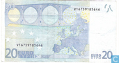 Banknotes - Eurozone - 2002 Dated 'Signature J.C. Trichet' Issue - Eurozone 20 Euro V-M-T