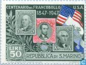 Postzegels - San Marino - Postzegeljubileum U.S.A.