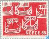 Briefmarken - Norwegen - 65 rot