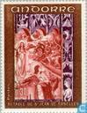 Postage Stamps - Andorra - French - Frescoes