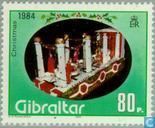 Postzegels - Gibraltar - Pronkwagen